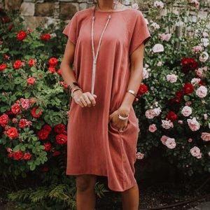 Bohme Stella Shift Dress in Mauve